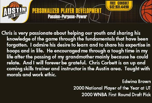 Edwina Brown on Coach Chris Corbett and Austin Youth Basketball Review