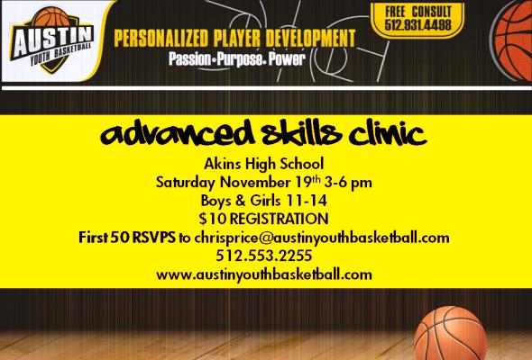 Austin Youth Basketball Advanced Skills Clinic