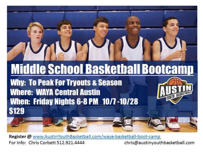 WAYA basketball boot camp and treining