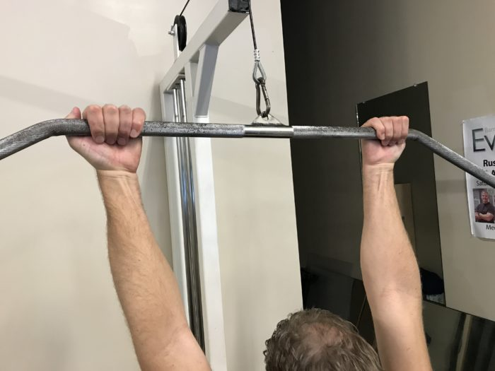 Supinated Grip Lat Pulldown for Basketball
